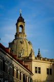 Horizonte de la ciudad de Dresden Alstadt con la iglesia de Frauen Imágenes de archivo libres de regalías