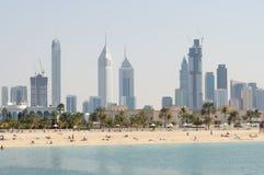 Horizonte de la ciudad de Dubai Imagen de archivo libre de regalías