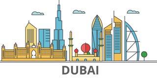 Horizonte de la ciudad de Dubain Stock de ilustración