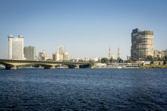 Horizonte de la ciudad de El Cairo Imagen de archivo libre de regalías