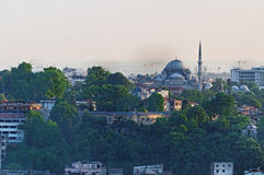 Horizonte de la ciudad de Estambul foto de archivo