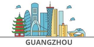 Horizonte de la ciudad de Guangzhou Ilustración del Vector