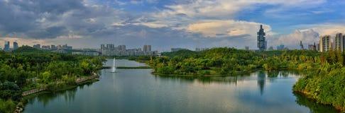 Horizonte de la ciudad de Guiyang Imágenes de archivo libres de regalías