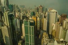 Horizonte de la ciudad de Hong Kong Imágenes de archivo libres de regalías