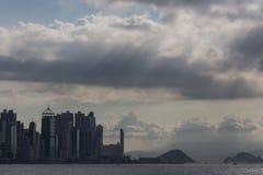 Horizonte de la ciudad de Hong Kong Fotos de archivo