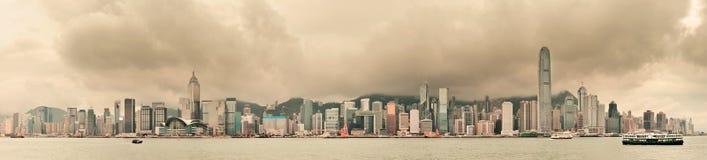 Horizonte de la ciudad de Hong Kong Fotos de archivo libres de regalías