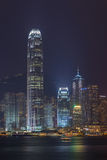 Horizonte de la ciudad de Hong-Kong Fotografía de archivo