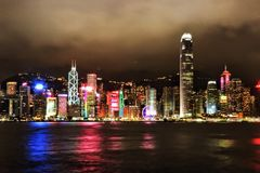 Horizonte de la ciudad de Hong-Kong foto de archivo libre de regalías