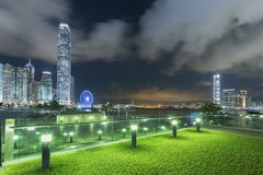 Horizonte de la ciudad de Hong-Kong Imagen de archivo