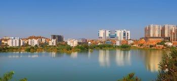 Horizonte de la ciudad de Hyderabad Imagenes de archivo
