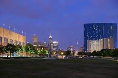 Horizonte de la ciudad de Indianapolis Foto de archivo libre de regalías