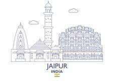 Horizonte de la ciudad de Jaipur, la India