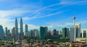 Horizonte de la ciudad de Kuala Lumpur Fotografía de archivo libre de regalías
