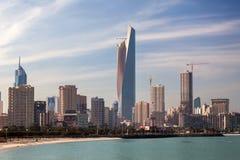 Horizonte de la ciudad de Kuwait Imágenes de archivo libres de regalías