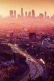 Horizonte de la ciudad de Los Ángeles - de California Fotografía de archivo