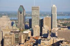 Horizonte de la ciudad de Montreal foto de archivo
