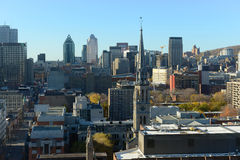 Horizonte de la ciudad de Montreal, Quebec, Canadá imágenes de archivo libres de regalías