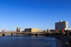 Horizonte de la ciudad de Moscú Imagen de archivo