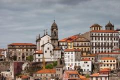 Horizonte de la ciudad de Oporto en Portugal Fotografía de archivo libre de regalías