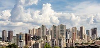 Horizonte de la ciudad de Ribeirão Preto Imágenes de archivo libres de regalías