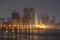 Horizonte de la ciudad de Sharja imagen de archivo libre de regalías