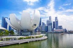 Horizonte de la ciudad de Singapur Fotos de archivo