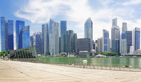 Horizonte de la ciudad de Singapur Foto de archivo libre de regalías