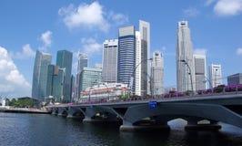 Horizonte de la ciudad de Singapur Imágenes de archivo libres de regalías
