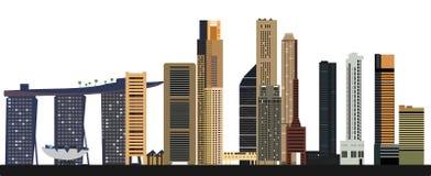 Horizonte de la ciudad de Singapur ilustración del vector