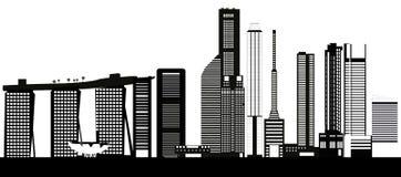 Horizonte de la ciudad de Singapur stock de ilustración