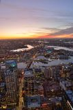 Horizonte de la ciudad de Sydney en la puesta del sol Imagen de archivo