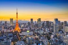 Horizonte de la ciudad de Tokio Japón Foto de archivo libre de regalías