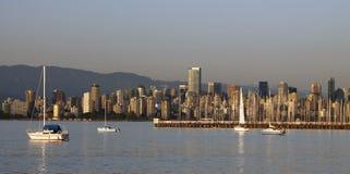 Horizonte de la ciudad de Vancouver Foto de archivo libre de regalías