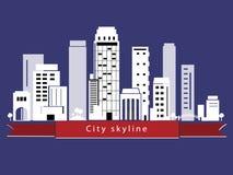Horizonte de la ciudad del vector Imagen de archivo