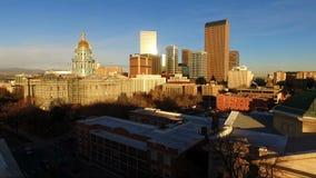 Horizonte de la ciudad de Denver Colorado Capital Building Downtown almacen de video