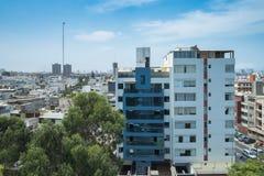 Horizonte de la ciudad en Lima, Perú Foto de archivo libre de regalías