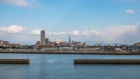 Horizonte de la ciudad de Fukuoka en Japón Fotos de archivo libres de regalías