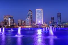 Horizonte de la ciudad de Jacksonville, la Florida, los E.E.U.U. fotos de archivo libres de regalías