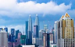 Horizonte de la ciudad de Kuala Lumpur, Malasia foto de archivo libre de regalías