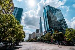 Horizonte de la ciudad de Saigon, Vietnam fotos de archivo