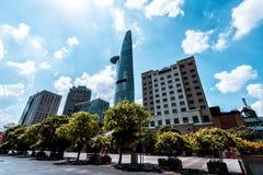 Horizonte de la ciudad de Saigon, Vietnam imagenes de archivo