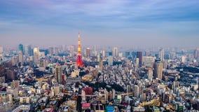 Horizonte de la ciudad de Tokio Japón metrajes