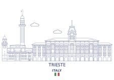 Horizonte de la ciudad de Trieste, Italia