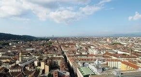 Horizonte de la ciudad de Turín en 4k metrajes