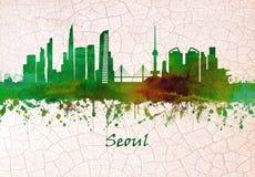 Horizonte de la Corea del Sur de Seul libre illustration