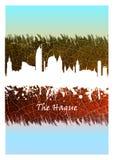 Horizonte de La Haya azul y blanco libre illustration