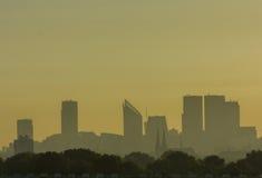 Horizonte de La Haya en la salida del sol Foto de archivo