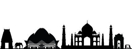 Horizonte de la India Nueva Deli stock de ilustración