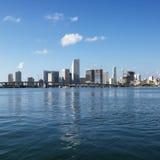 Horizonte de la línea de costa de Miami imagen de archivo libre de regalías
