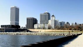 Horizonte de la línea de costa de Milwaukee Imagen de archivo libre de regalías